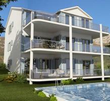 Большие двухспальные апартаменты с видом на море в Prcanj, продажа. №16835. ЭстейтСервис.