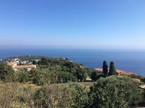 Земельный участок с проектом и видом на море и мыс Cap Martin