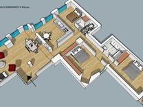 Четырехкомнатная квартира в ста метрах от моря в Ницце