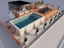 Квартира-вилла на крыше с видом на море в Каннах