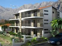 Апартаменты с двумя спальнями с видом на море в Доброта
