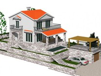 Строящийся дом с видом на море в Каваче