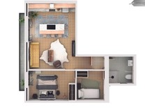 Трехкомнатные апартаменты в Sant Gervasi- Galvany
